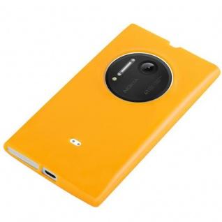 Cadorabo Hülle für Nokia Lumia 1020 in JELLY GELB - Handyhülle aus flexiblem TPU Silikon - Silikonhülle Schutzhülle Ultra Slim Soft Back Cover Case Bumper - Vorschau 3