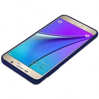 Cadorabo Hülle für Samsung Galaxy NOTE 5 in CANDY DUNKEL BLAU - Handyhülle aus flexiblem TPU Silikon - Silikonhülle Schutzhülle Ultra Slim Soft Back Cover Case Bumper - Vorschau 4