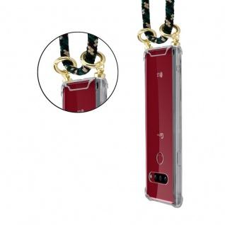 Cadorabo Handy Kette für LG G8 ThinQ in CAMOUFLAGE ? Silikon Necklace Umhänge Hülle mit Gold Ringen, Kordel Band Schnur und abnehmbarem Etui ? Schutzhülle - Vorschau 2