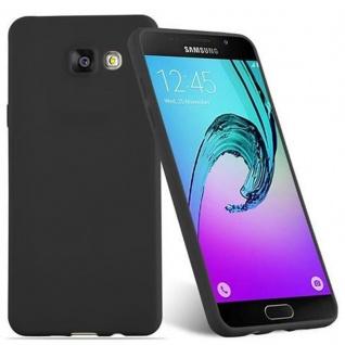 Cadorabo Hülle für Samsung Galaxy A5 2016 in CANDY SCHWARZ - Handyhülle aus flexiblem TPU Silikon - Silikonhülle Schutzhülle Ultra Slim Soft Back Cover Case Bumper - Vorschau 2