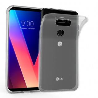 Cadorabo Hülle für LG V30 in VOLL TRANSPARENT - Handyhülle aus flexiblem TPU Silikon - Silikonhülle Schutzhülle Ultra Slim Soft Back Cover Case Bumper