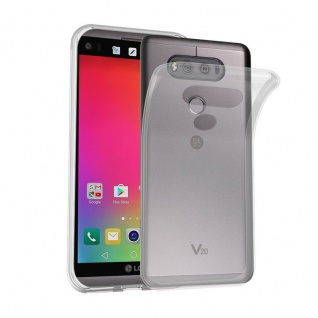 Cadorabo Hülle für LG V20 in VOLL TRANSPARENT - Handyhülle aus flexiblem TPU Silikon - Silikonhülle Schutzhülle Ultra Slim Soft Back Cover Case Bumper