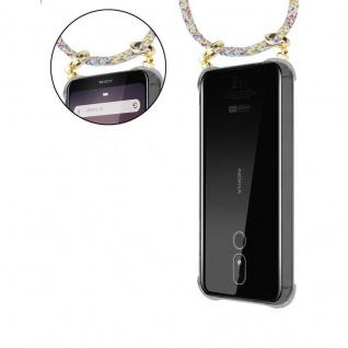 Cadorabo Handy Kette für Nokia 3.2 in RAINBOW - Silikon Necklace Umhänge Hülle mit Gold Ringen, Kordel Band Schnur und abnehmbarem Etui ? Schutzhülle - Vorschau 5