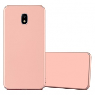 Cadorabo Hülle für Samsung Galaxy J3 2017 in METALL ROSÉ GOLD ? Hardcase Handyhülle aus Plastik gegen Kratzer und Stöße ? Schutzhülle Bumper Ultra Slim Back Case Hard Cover