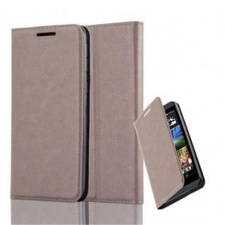 Cadorabo Hülle für HTC DESIRE 820 in KAFFEE BRAUN - Handyhülle mit Magnetverschluss, Standfunktion und Kartenfach - Case Cover Schutzhülle Etui Tasche Book Klapp Style