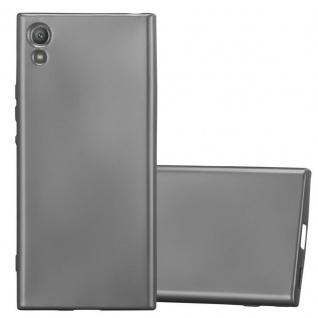 Cadorabo Hülle für Sony Xperia XA1 in METALLIC GRAU - Handyhülle aus flexiblem TPU Silikon - Silikonhülle Schutzhülle Ultra Slim Soft Back Cover Case Bumper