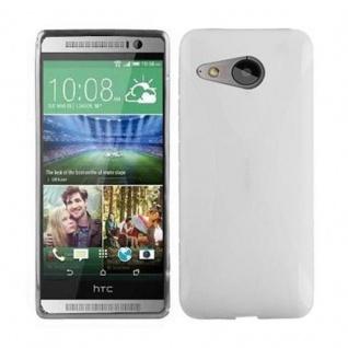 Cadorabo Hülle für HTC ONE M8 MINI (2.Gen.) in HALB TRANSPARENT - Handyhülle aus flexiblem TPU Silikon - Silikonhülle Schutzhülle Ultra Slim Soft Back Cover Case Bumper