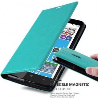 Cadorabo Hülle für Nokia Lumia 1320 in PETROL TÜRKIS - Handyhülle mit Magnetverschluss, Standfunktion und Kartenfach - Case Cover Schutzhülle Etui Tasche Book Klapp Style