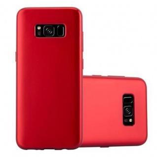 Cadorabo Hülle für Samsung Galaxy S8 in METALLIC ROT Handyhülle aus flexiblem TPU Silikon Silikonhülle Schutzhülle Ultra Slim Soft Back Cover Case Bumper
