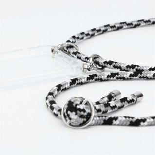 Cadorabo Handy Kette für Huawei MATE 20 in SCHWARZ CAMOUFLAGE - Silikon Necklace Umhänge Hülle mit Silber Ringen, Kordel Band Schnur und abnehmbarem Etui - Schutzhülle - Vorschau 2