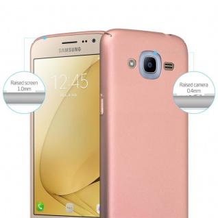 Cadorabo Hülle für Samsung Galaxy J2 2016 in METALL ROSÉ GOLD - Hardcase Handyhülle aus Plastik gegen Kratzer und Stöße - Schutzhülle Bumper Ultra Slim Back Case Hard Cover - Vorschau 2