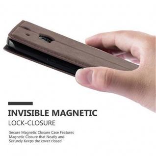 Cadorabo Hülle für HTC ONE M8 (2.Generation) in KAFFEE BRAUN - Handyhülle mit Magnetverschluss, Standfunktion und Kartenfach - Case Cover Schutzhülle Etui Tasche Book Klapp Style - Vorschau 5