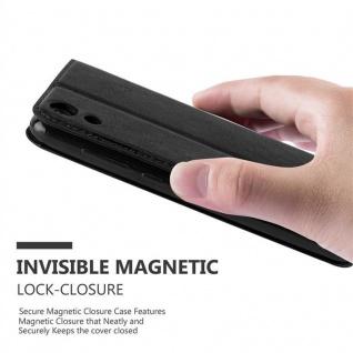 Cadorabo Hülle für WIKO LENNY 4 in NACHT SCHWARZ - Handyhülle mit Magnetverschluss, Standfunktion und Kartenfach - Case Cover Schutzhülle Etui Tasche Book Klapp Style - Vorschau 4