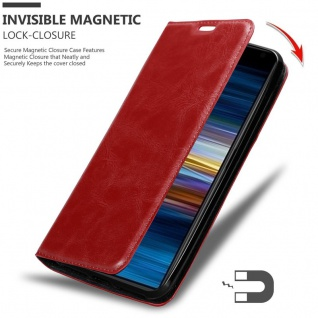 Cadorabo Hülle für Sony Xperia 10 in APFEL ROT Handyhülle mit Magnetverschluss, Standfunktion und Kartenfach Case Cover Schutzhülle Etui Tasche Book Klapp Style - Vorschau 3