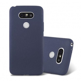 Cadorabo Hülle für LG G5 in FROST DUNKEL BLAU - Handyhülle aus flexiblem TPU Silikon - Silikonhülle Schutzhülle Ultra Slim Soft Back Cover Case Bumper