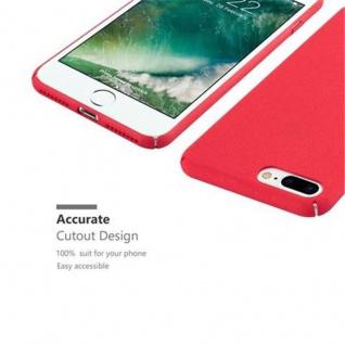 Cadorabo Hülle für Apple iPhone 8 PLUS / iPhone 7 PLUS / iPhone 7S PLUS in FROSTY ROT - Hardcase Handyhülle aus Plastik gegen Kratzer und Stöße - Schutzhülle Bumper Ultra Slim Back Case Hard Cover - Vorschau 4