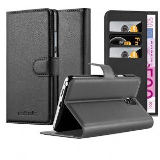 Cadorabo ! PREMIUM ? Book Style Hülle im Portemonnaie Design für Samsung Galaxy MEGA 2 (G7508Q) mit Standfunktion in PHANTOM-SCHWARZ