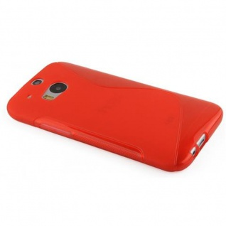 Cadorabo Hülle für HTC ONE M8 (2.Gen.) in INFERNO ROT ? Handyhülle aus flexiblem TPU Silikon ? Silikonhülle Schutzhülle Ultra Slim Soft Back Cover Case Bumper - Vorschau 2