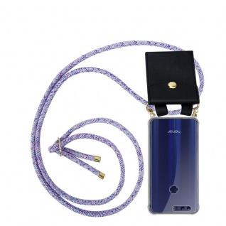 Cadorabo Handy Kette für Honor 8 / Honor 8 Premium in UNICORN Silikon Necklace Umhänge Hülle mit Gold Ringen, Kordel Band Schnur und abnehmbarem Etui Schutzhülle