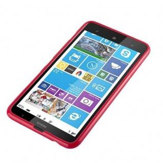 Cadorabo Hülle für Nokia Lumia 1320 in JELLY ROT - Handyhülle aus flexiblem TPU Silikon - Silikonhülle Schutzhülle Ultra Slim Soft Back Cover Case Bumper - Vorschau 2