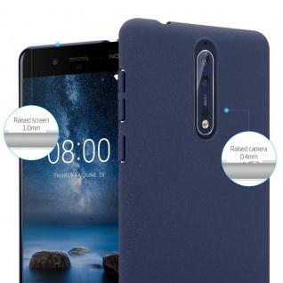 Cadorabo Hülle für Nokia 8 2017 in FROSTY BLAU - Hardcase Handyhülle aus Plastik gegen Kratzer und Stöße - Schutzhülle Bumper Ultra Slim Back Case Hard Cover - Vorschau 4