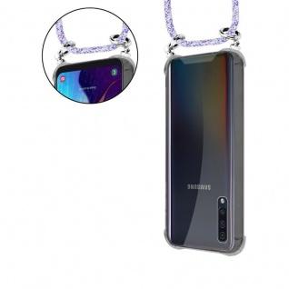 Cadorabo Handy Kette für Samsung Galaxy A50 in UNICORN - Silikon Necklace Umhänge Hülle mit Silber Ringen, Kordel Band Schnur und abnehmbarem Etui - Schutzhülle - Vorschau 5