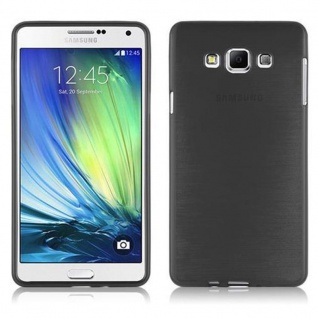 Cadorabo Hülle für Samsung Galaxy A7 2015 in SCHWARZ - Handyhülle aus flexiblem TPU Silikon - Silikonhülle Schutzhülle Ultra Slim Soft Back Cover Case Bumper