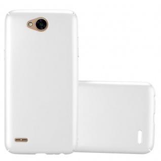Cadorabo Hülle für LG X Power 2 in METALL SILBER Hardcase Handyhülle aus Plastik gegen Kratzer und Stöße Schutzhülle Bumper Ultra Slim Back Case Hard Cover