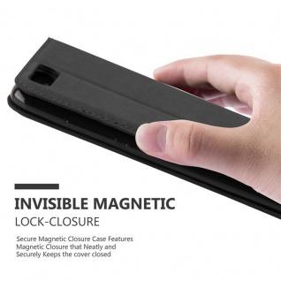 Cadorabo Hülle für Xiaomi Mi 6 in NACHT SCHWARZ - Handyhülle mit Magnetverschluss, Standfunktion und Kartenfach - Case Cover Schutzhülle Etui Tasche Book Klapp Style - Vorschau 5
