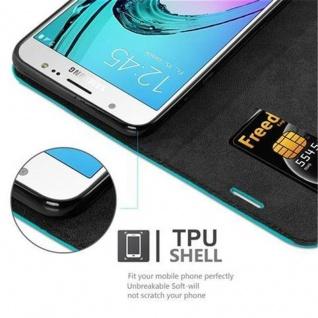Cadorabo Hülle für Samsung Galaxy J7 2016 in PETROL TÜRKIS - Handyhülle mit Magnetverschluss, Standfunktion und Kartenfach - Case Cover Schutzhülle Etui Tasche Book Klapp Style - Vorschau 3