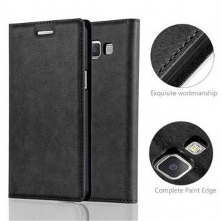 Cadorabo Hülle für Samsung Galaxy A5 2015 in NACHT SCHWARZ - Handyhülle mit Magnetverschluss, Standfunktion und Kartenfach - Case Cover Schutzhülle Etui Tasche Book Klapp Style - Vorschau 2
