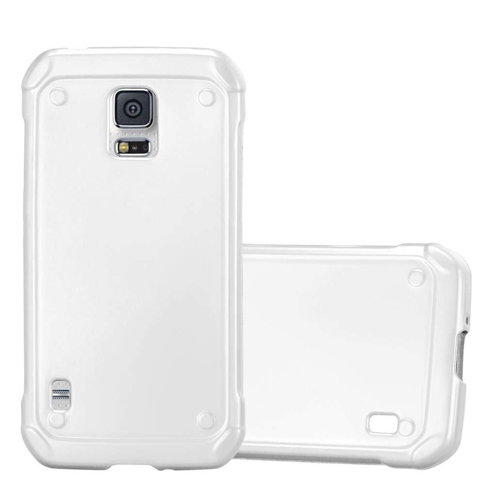 detailed look 47de9 db09a Cadorabo Hülle für Samsung Galaxy S5 Active in METALLIC SILBER - Handyhülle  aus flexiblem TPU Silikon - Silikonhülle Schutzhülle Ultra Slim Soft ...