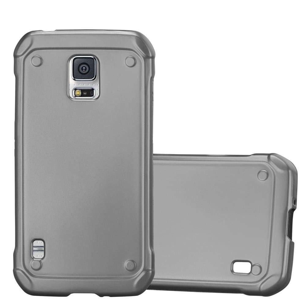 official photos 79825 ae8ba Cadorabo Hülle für Samsung Galaxy S5 Active in METALLIC GRAU - Handyhülle  aus flexiblem TPU Silikon - Silikonhülle Schutzhülle Ultra Slim Soft ...