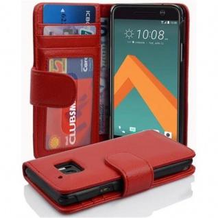 Cadorabo Hülle für HTC 10 (One M10) in INFERNO ROT - Handyhülle mit Magnetverschluss und 3 Kartenfächern - Case Cover Schutzhülle Etui Tasche Book Klapp Style