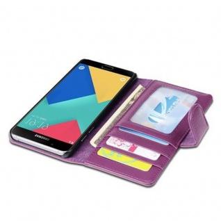Cadorabo Hülle für Samsung Galaxy A5 2016 in BORDEAUX LILA ? Handyhülle mit Magnetverschluss und 3 Kartenfächern ? Case Cover Schutzhülle Etui Tasche Book Klapp Style - Vorschau 3