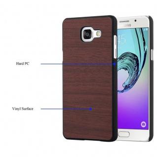 Cadorabo Hülle für Samsung Galaxy A5 2016 in WOODEN KAFFEE ? Handyhülle aus flexiblem TPU Silikon ? Silikonhülle Schutzhülle Ultra Slim Soft Back Cover Case Bumper - Vorschau 3