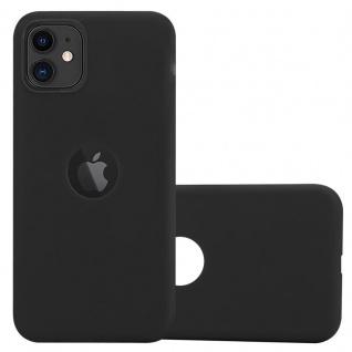 Cadorabo Hülle für Apple iPhone 11 (XI) in CANDY SCHWARZ - Handyhülle aus flexiblem TPU Silikon - Silikonhülle Schutzhülle Ultra Slim Soft Back Cover Case Bumper
