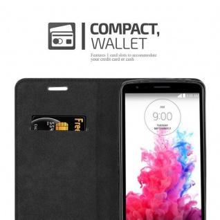Cadorabo Hülle für LG G3 STYLUS in APFEL ROT Handyhülle mit Magnetverschluss, Standfunktion und Kartenfach Case Cover Schutzhülle Etui Tasche Book Klapp Style - Vorschau 5