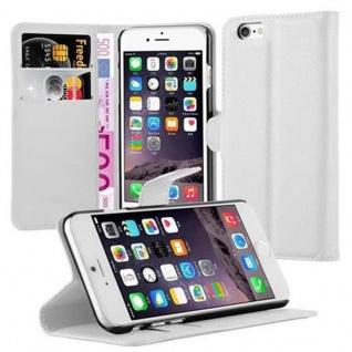 Cadorabo Hülle für Apple iPhone 6 / iPhone 6S in ARKTIS WEIß - Handyhülle mit Magnetverschluss, Standfunktion und Kartenfach - Case Cover Schutzhülle Etui Tasche Book Klapp Style