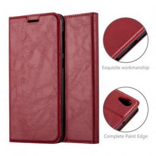 Cadorabo Hülle für HTC Desire 10 LIFESTYLE / Desire 825 in APFEL ROT - Handyhülle mit Magnetverschluss, Standfunktion und Kartenfach - Case Cover Schutzhülle Etui Tasche Book Klapp Style - Vorschau 2
