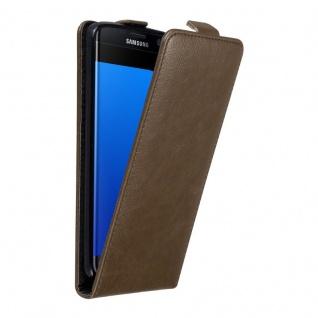 Cadorabo Hülle für Samsung Galaxy S7 EDGE in KAFFEE BRAUN - Handyhülle im Flip Design mit unsichtbarem Magnetverschluss - Case Cover Schutzhülle Etui Tasche Book Klapp Style