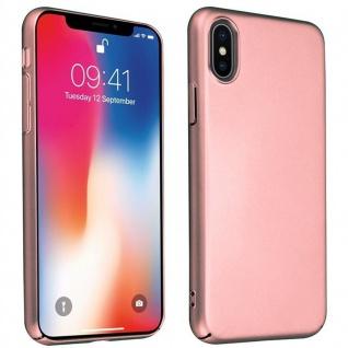 Cadorabo Hülle für Apple iPhone X / XS in METALL ROSÉ GOLD ? Hardcase Handyhülle aus Plastik gegen Kratzer und Stöße ? Schutzhülle Bumper Ultra Slim Back Case Hard Cover