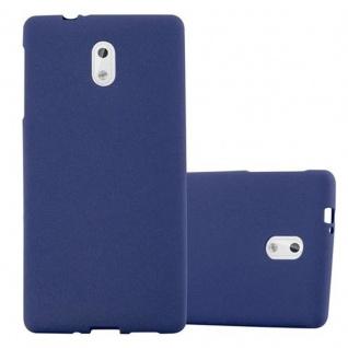 Cadorabo Hülle für Nokia 3 2017 in FROST DUNKEL BLAU - Handyhülle aus flexiblem TPU Silikon - Silikonhülle Schutzhülle Ultra Slim Soft Back Cover Case Bumper