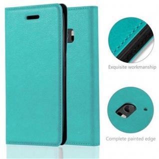 Cadorabo Hülle für HTC 10 (One M10) in PETROL TÜRKIS - Handyhülle mit Magnetverschluss, Standfunktion und Kartenfach - Case Cover Schutzhülle Etui Tasche Book Klapp Style - Vorschau 2