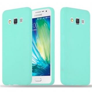 Cadorabo Hülle für Samsung Galaxy A3 2015 in CANDY BLAU - Handyhülle aus flexiblem TPU Silikon - Silikonhülle Schutzhülle Ultra Slim Soft Back Cover Case Bumper