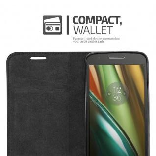 Cadorabo Hülle für Motorola MOTO E3 in APFEL ROT Handyhülle mit Magnetverschluss, Standfunktion und Kartenfach Case Cover Schutzhülle Etui Tasche Book Klapp Style - Vorschau 5
