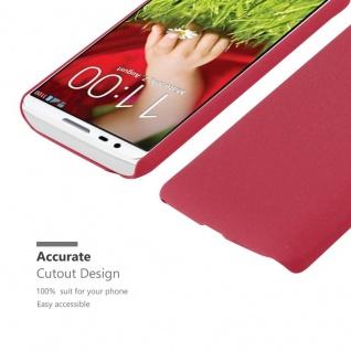 Cadorabo Hülle für LG G2 MINI in FROSTY ROT - Hardcase Handyhülle aus Plastik gegen Kratzer und Stöße - Schutzhülle Bumper Ultra Slim Back Case Hard Cover - Vorschau 5