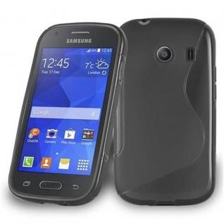 Cadorabo Hülle für Samsung Galaxy ACE STYLE in OXID SCHWARZ ? Handyhülle aus flexiblem TPU Silikon ? Silikonhülle Schutzhülle Ultra Slim Soft Back Cover Case Bumper