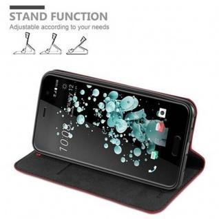 Cadorabo Hülle für HTC U PLAY in APFEL ROT Handyhülle mit Magnetverschluss, Standfunktion und Kartenfach Case Cover Schutzhülle Etui Tasche Book Klapp Style - Vorschau 4