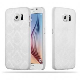 Samsung Galaxy S6 (NICHT für EDGE) Hardcase Hülle in WEIß von Cadorabo - Blumen Paisley Henna Design Schutzhülle ? Handyhülle Bumper Back Case Cover